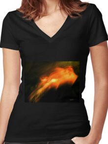 Smoke In time Women's Fitted V-Neck T-Shirt