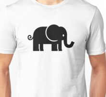 Black comic elephant Unisex T-Shirt