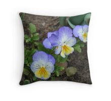 Baby Pansy Throw Pillow