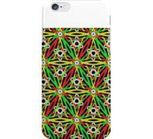 FESTIVE print, red, green, gold, geometric iPhone Case/Skin