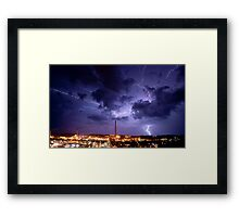 Lighting over the Isa Framed Print