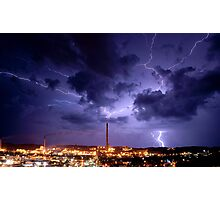 Lighting over the Isa Photographic Print