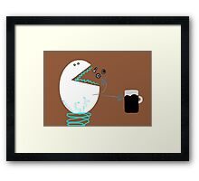 Hungry robot Framed Print