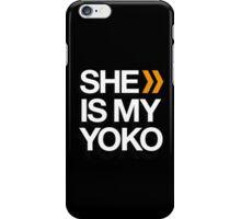 SHE IS MY YOKO iPhone Case/Skin