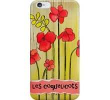 French Poppies Les Coquelicots iPhone Case/Skin