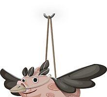 Flying Pig Bird by tshirtdesign