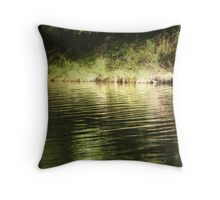 The emerald waters Throw Pillow