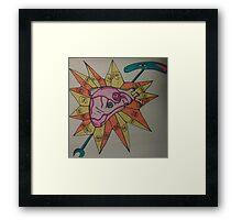 Heart of God, the Uas Scepter Framed Print