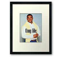 Carlton Thug Life Framed Print