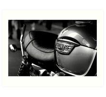 Triumph Motorbike Art Print