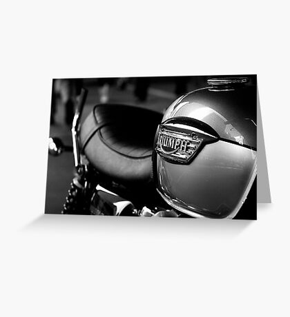 Triumph Motorbike Greeting Card