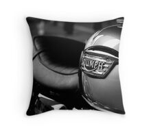 Triumph Motorbike Throw Pillow