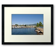Boat Dock, Sandpoint, Idaho, Lake Pend Oreille Framed Print