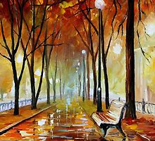 Golden Park — Buy Now Link - www.etsy.com/listing/156914623 by Leonid  Afremov