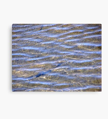 Blue Water Wave Ripples Canvas Print