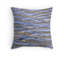 Blue Water Wave Ripples Throw Pillow