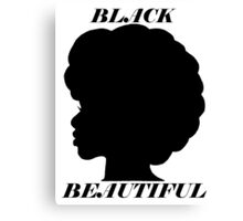 Black/Beautiful Canvas Print