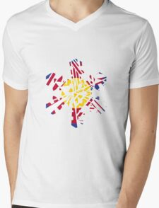Colorado Tribal Flake Mens V-Neck T-Shirt