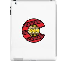 Colorado Tribal Flag: Red + Yellow iPad Case/Skin