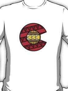 Colorado Tribal Flag: Red + Yellow T-Shirt