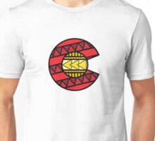 Colorado Tribal Flag: Red + Yellow Unisex T-Shirt