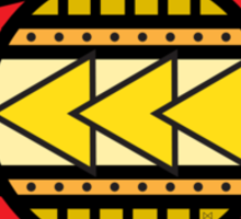 Colorado Tribal Flag: Red + Yellow Sticker