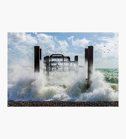 West Pier Splash Photographic Print