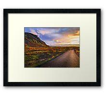 Insanely Beautiful Mountain Sunset Framed Print