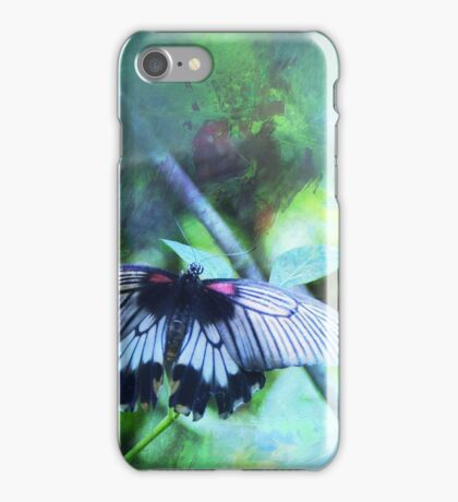 Pastel Impressions of Butterfly in Blue, Green, and Purple iPhone Case/Skin