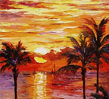 Glowing Palms — Buy Now Link - www.etsy.com/listing/167213103 by Leonid  Afremov