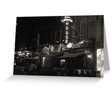 "Night Shots: The Chateau Lafayette Tavern (""the Laff"") Greeting Card"