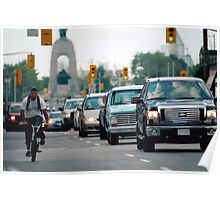 View North on Elgin Street, Ottawa,Canada Poster