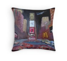 ELVIS in Times Square Throw Pillow