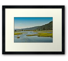 Idaho, Lake Pend Orielle, Back Road To Montana Framed Print