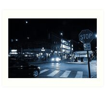 The Byward Market Square at Night Art Print