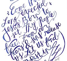 Come Thou Long Expected Jesus by Bumble & Bristle