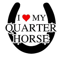 I heart My Quarter Horse Photographic Print