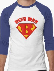 Beer Man Men's Baseball ¾ T-Shirt