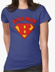 Beer Man Womens Fitted T-Shirt