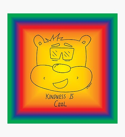Kindness Is Cool - Rainbow Photographic Print