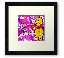 Pooh & Piglet Valentine Framed Print
