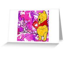 Pooh & Piglet Valentine Greeting Card
