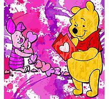 Pooh & Piglet Valentine Photographic Print