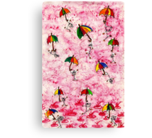 I want to dance in the rain! Canvas Print