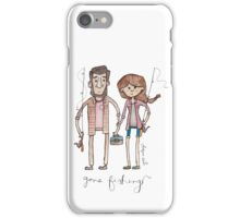 Gone Fishing Illustration iPhone Case/Skin