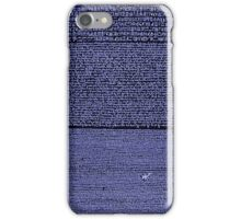 The Rosetta Stone Blue iPhone Case/Skin