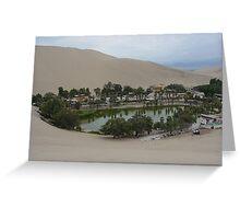 Oasis Huacachina Greeting Card