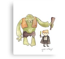 Harry Potter's Troll Canvas Print