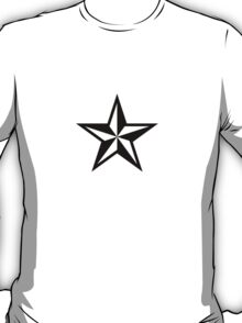 Nautical Star (black print) T-Shirt