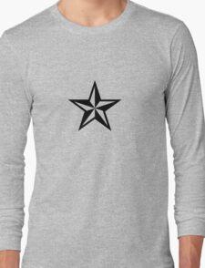 Nautical Star (black print) Long Sleeve T-Shirt